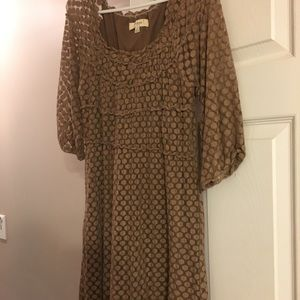 Dresses & Skirts - Brown stretchy dress - great for fall transition